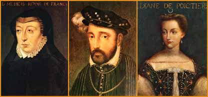 Catherine de Medici, Henri II, Diane de Poitiers
